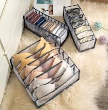 Underwear Storage Box Organizers Wardrobe Home Room Organization Drawer Divider Dormitory Save Space